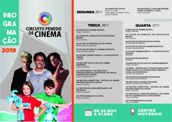 O Circuito Penedo de Cinema chega à edição 2019 com 60 filmes na programação, entre curtas e longas-metragens