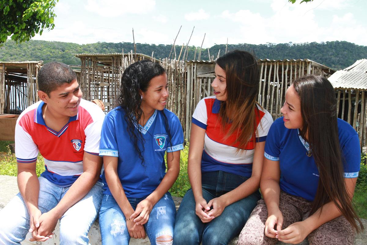 João Henrique, Wilma, Ana Jackeline e Elaine (Crédito: Valdir Rocha)