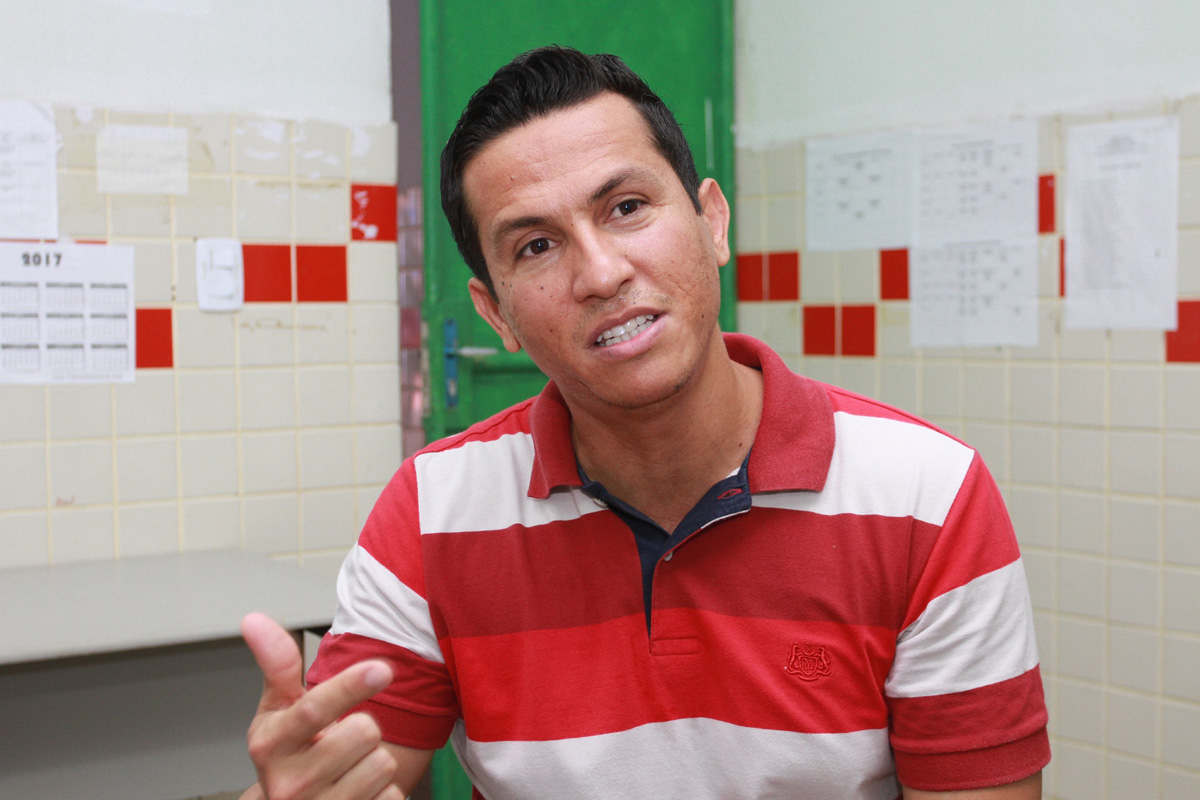 Diretor Rony Flávio, Escola Anaias de Lima, Vergel (Foto:Valdir Rocha)