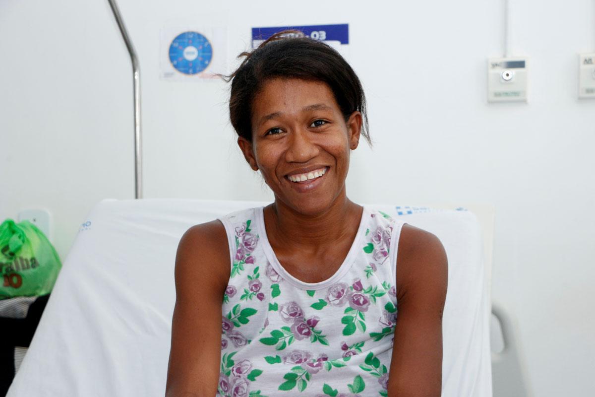 Joseilda dos Santos, usuária do Transporte Sanitário Hospital Sanatório (Foto: Thiago Henrique)