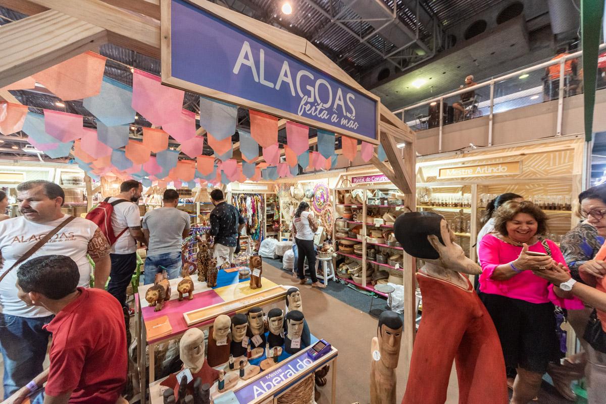 estande de Alagoas cresceu 74% em comercialização e encomendas, quando comparado ao ano de 2015. (Foto: Kaio Fragoso)