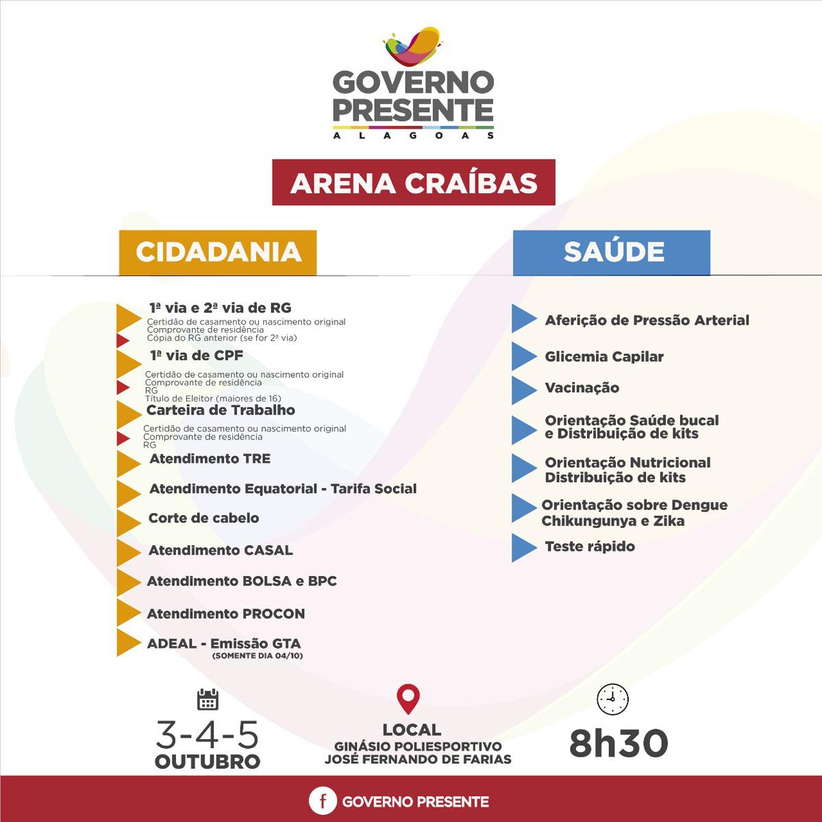 10ª edição do Governo Presente terá início nesta quinta-feira (Olival Santos Sesau)) e segue até o dia 5 de outubro com ações de cidadania, saúde e lazer (