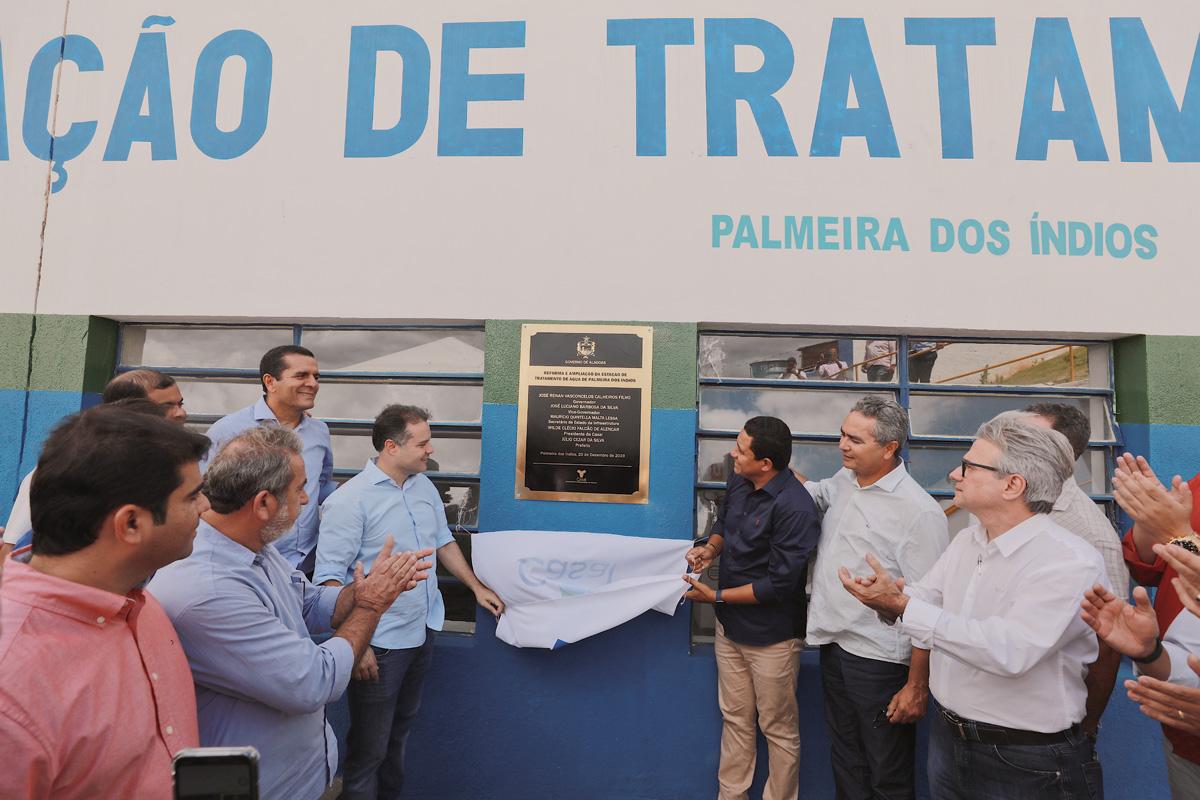 Inauguração da Estação de Tratamento de Palmeira dos Índios (Foto: Márcio Ferreira)